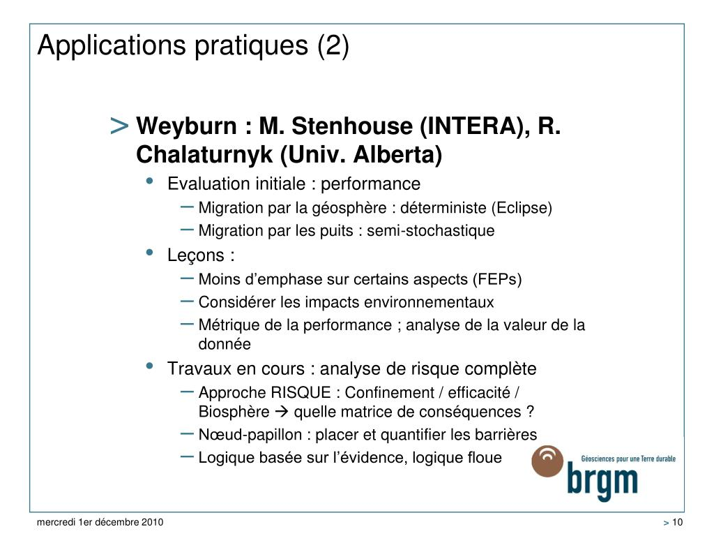 Applications pratiques (2)