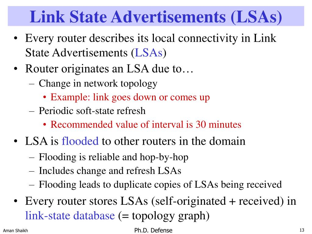 Link State Advertisements (LSAs)