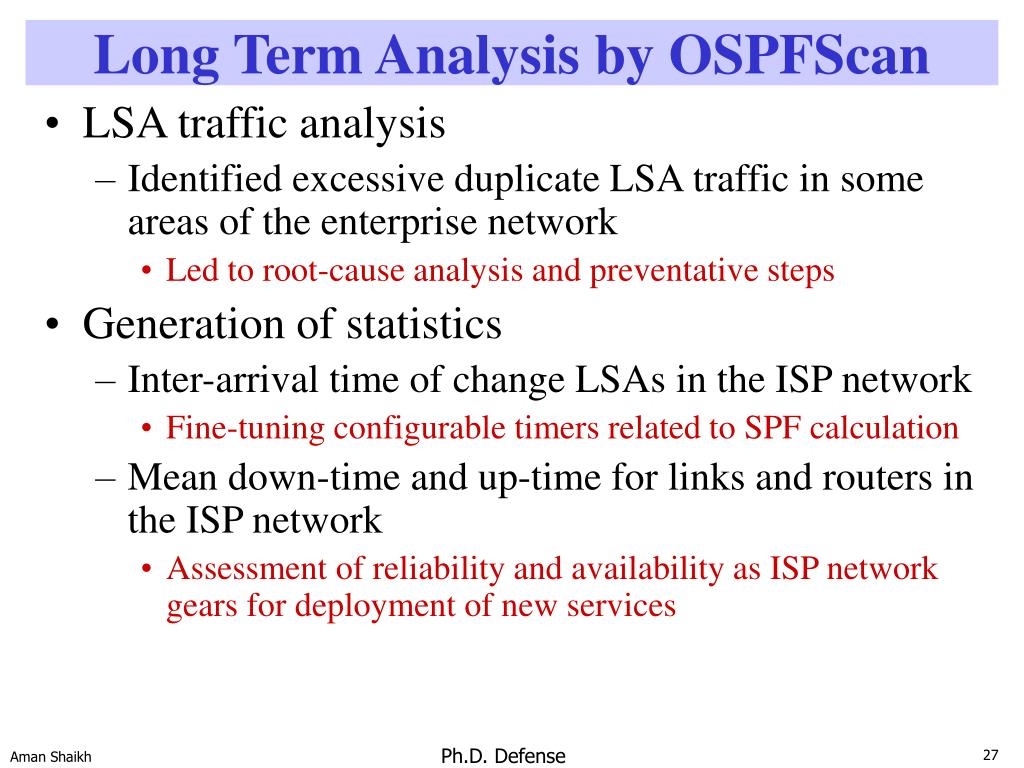 Long Term Analysis by OSPFScan