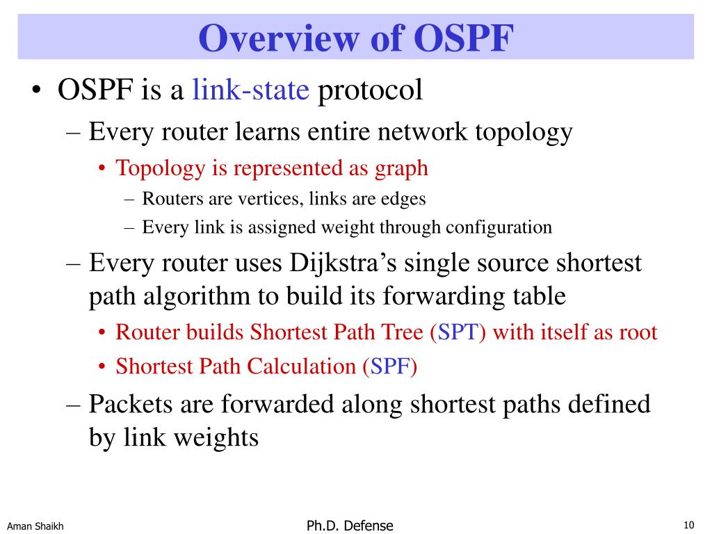 Overview of OSPF