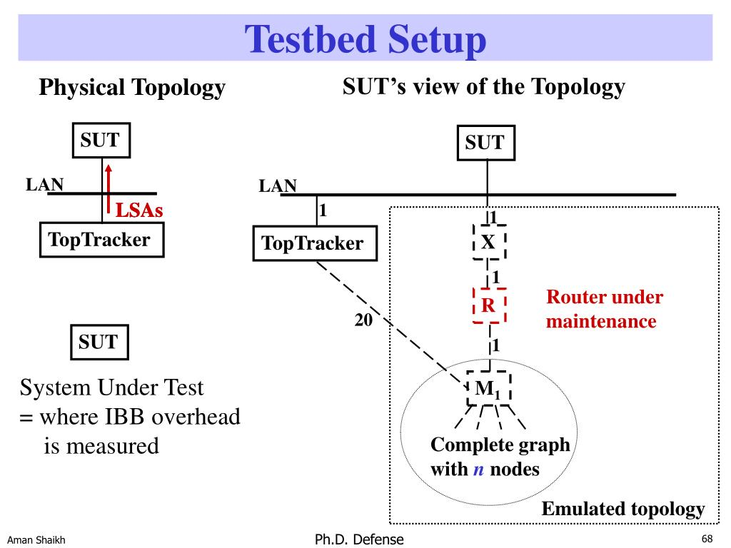 SUT's view of the Topology