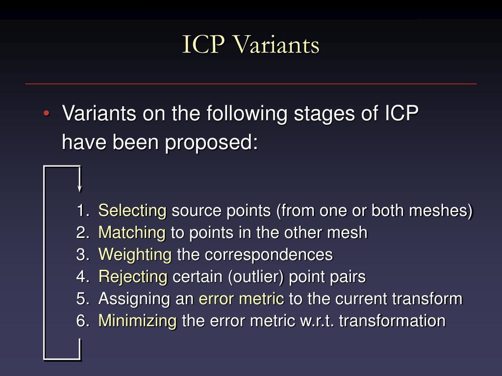 ICP Variants