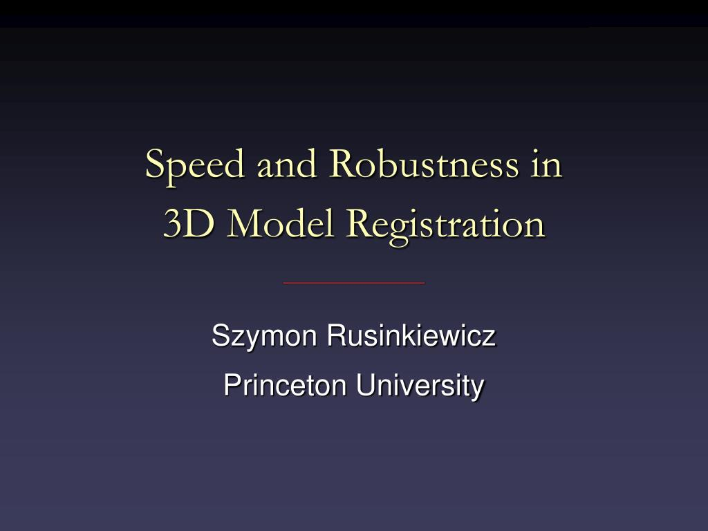 Speed and Robustness in