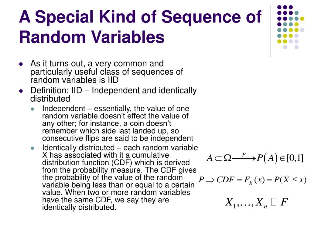 A Special Kind of Sequence of Random Variables