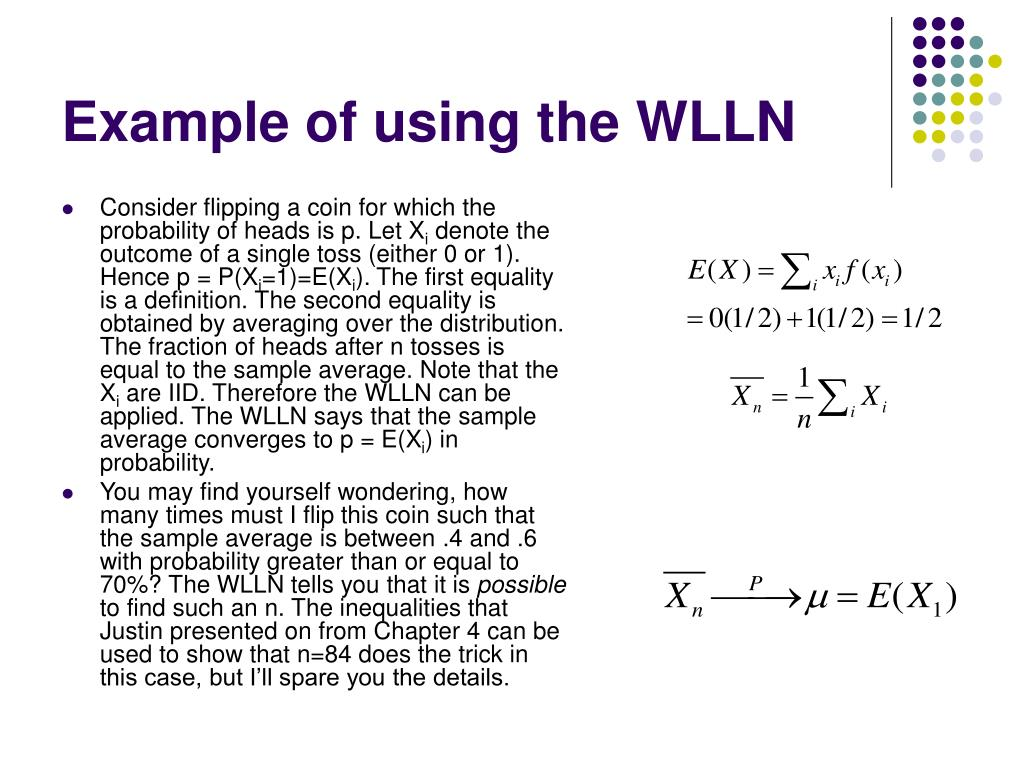 Example of using the WLLN