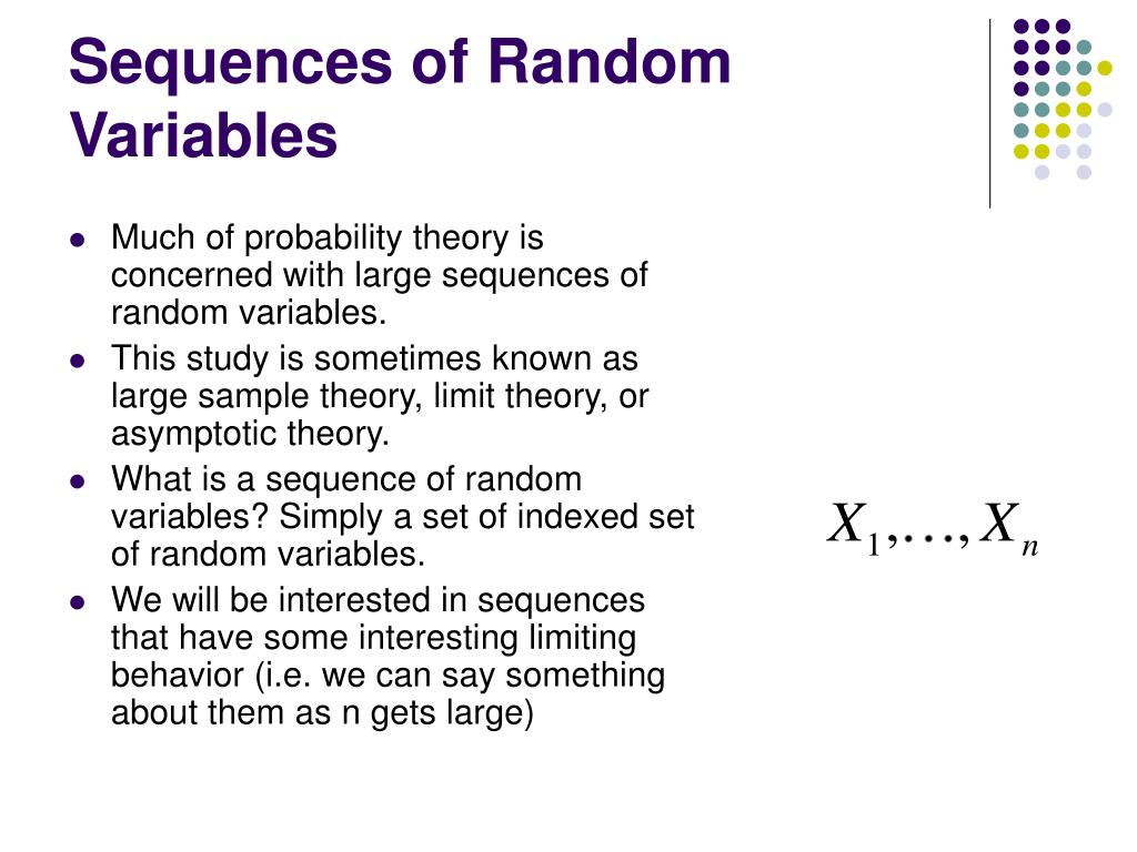Sequences of Random Variables