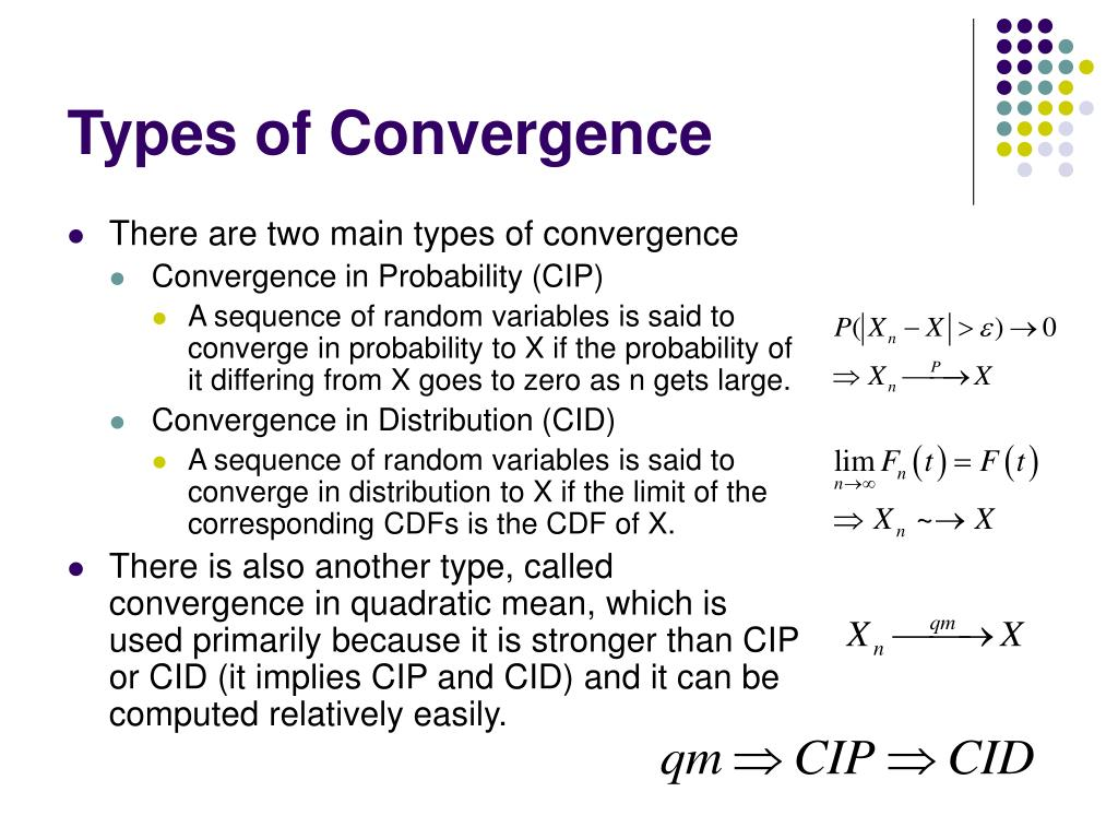 Types of Convergence