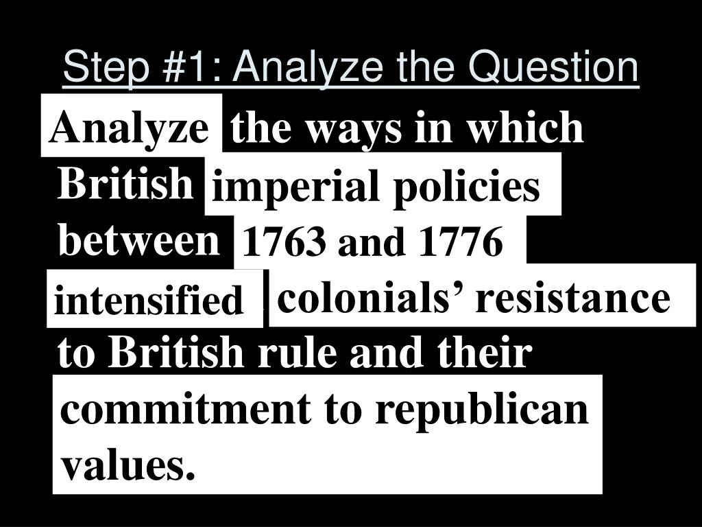 Step #1: Analyze the Question