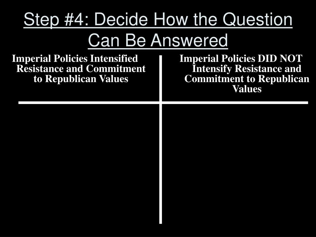 Step #4: Decide How the Question Can Be Answered