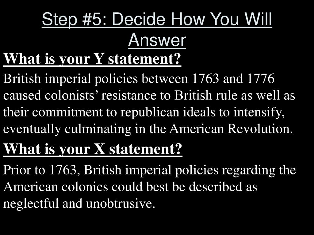 Step #5: Decide How You Will Answer