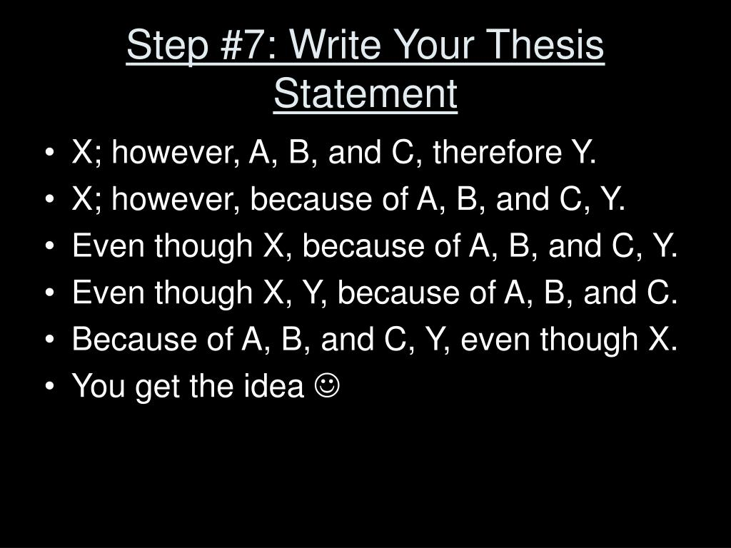 Step #7: Write Your Thesis Statement