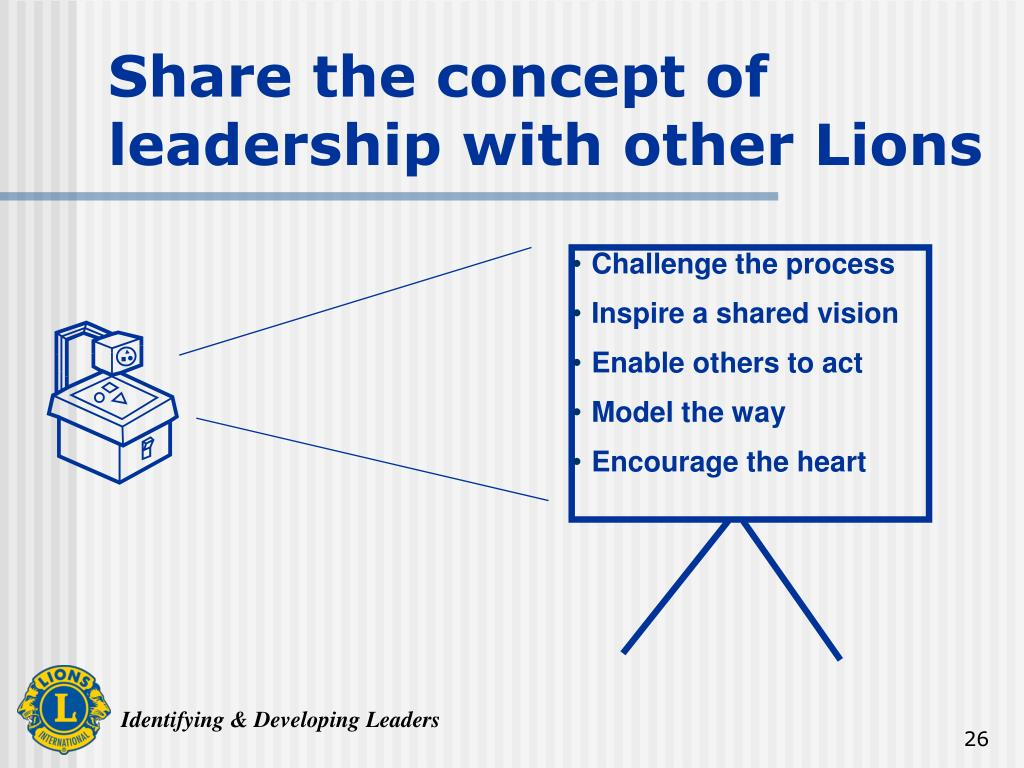 Share the concept of leadership with other Lions