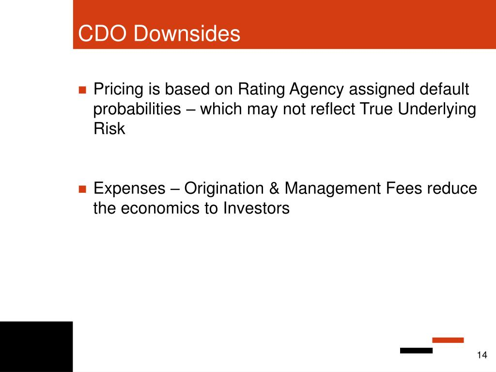 CDO Downsides