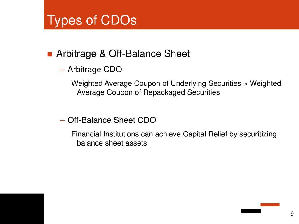Types of CDOs