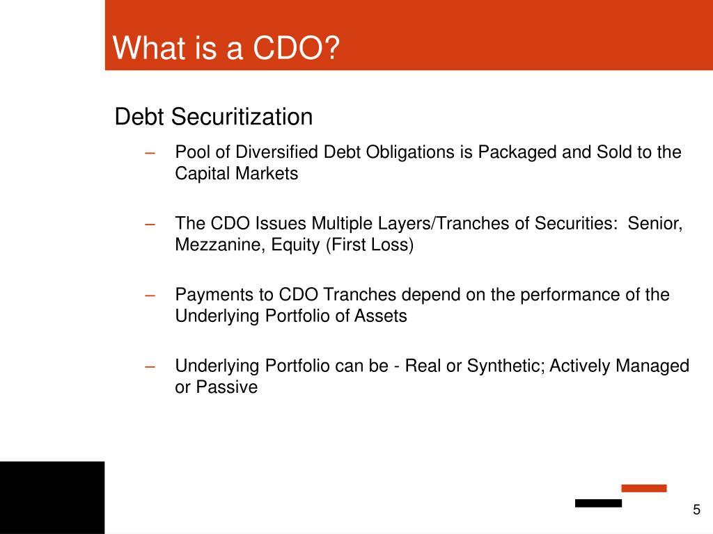 Debt Securitization