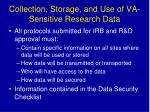 collection storage and use of va sensitive research data
