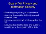 goal of va privacy and information security