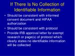 if there is no collection of identifiable information