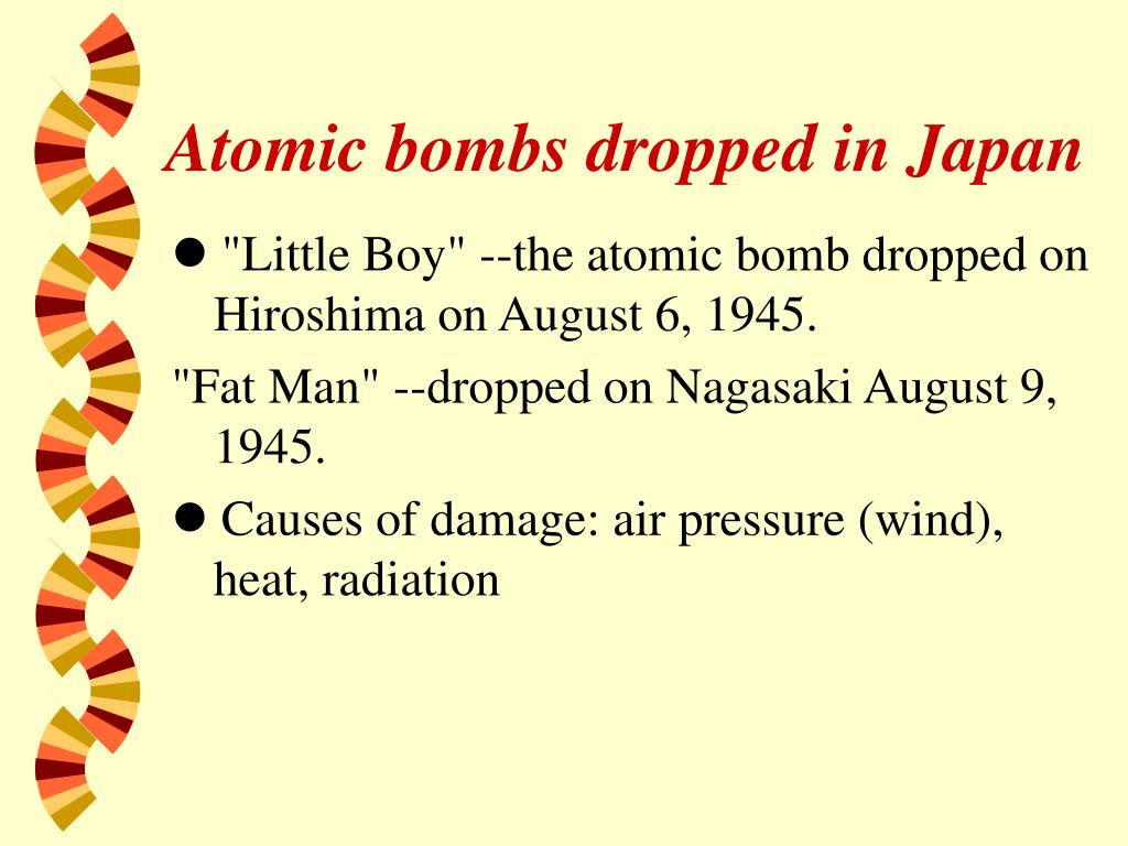 Atomic bombs dropped in Japan