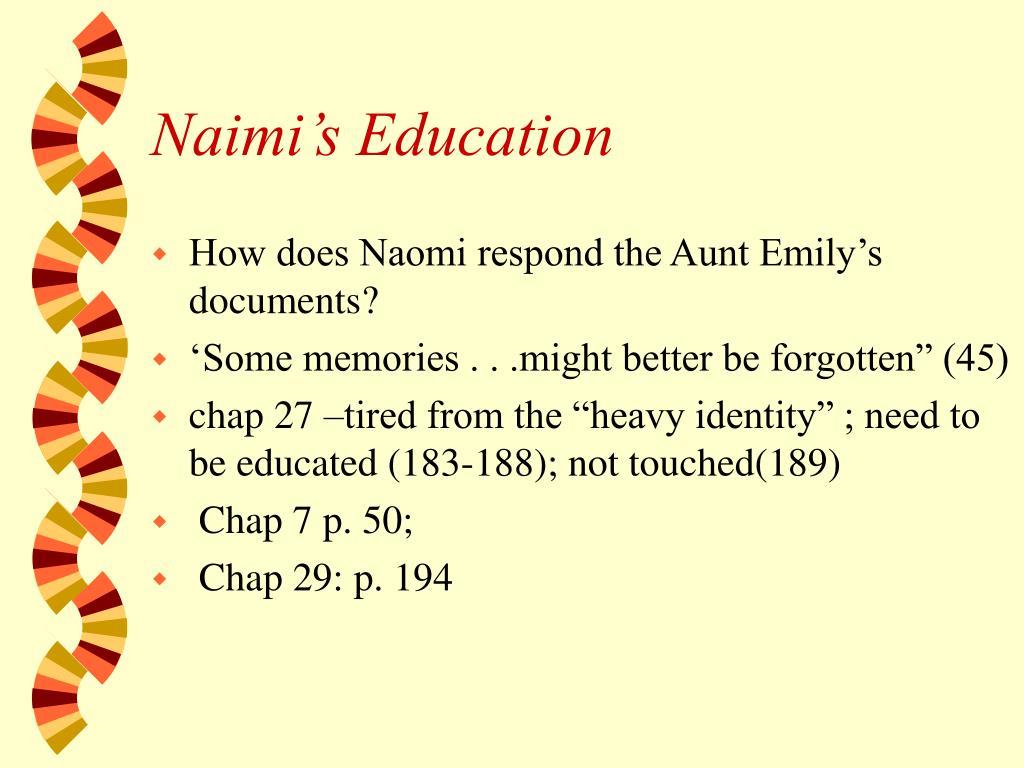 Naimi's Education
