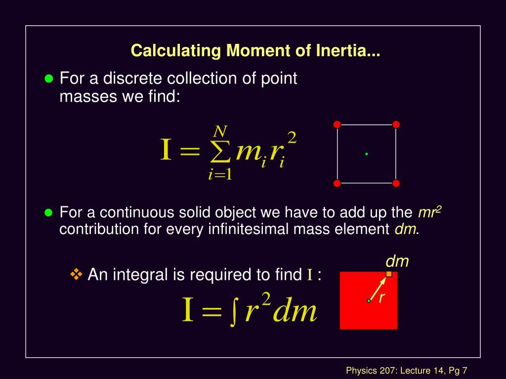 Calculating Moment of Inertia...