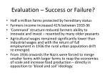evaluation success or failure