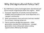 why did agricultural policy fail