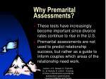 why premarital assessments