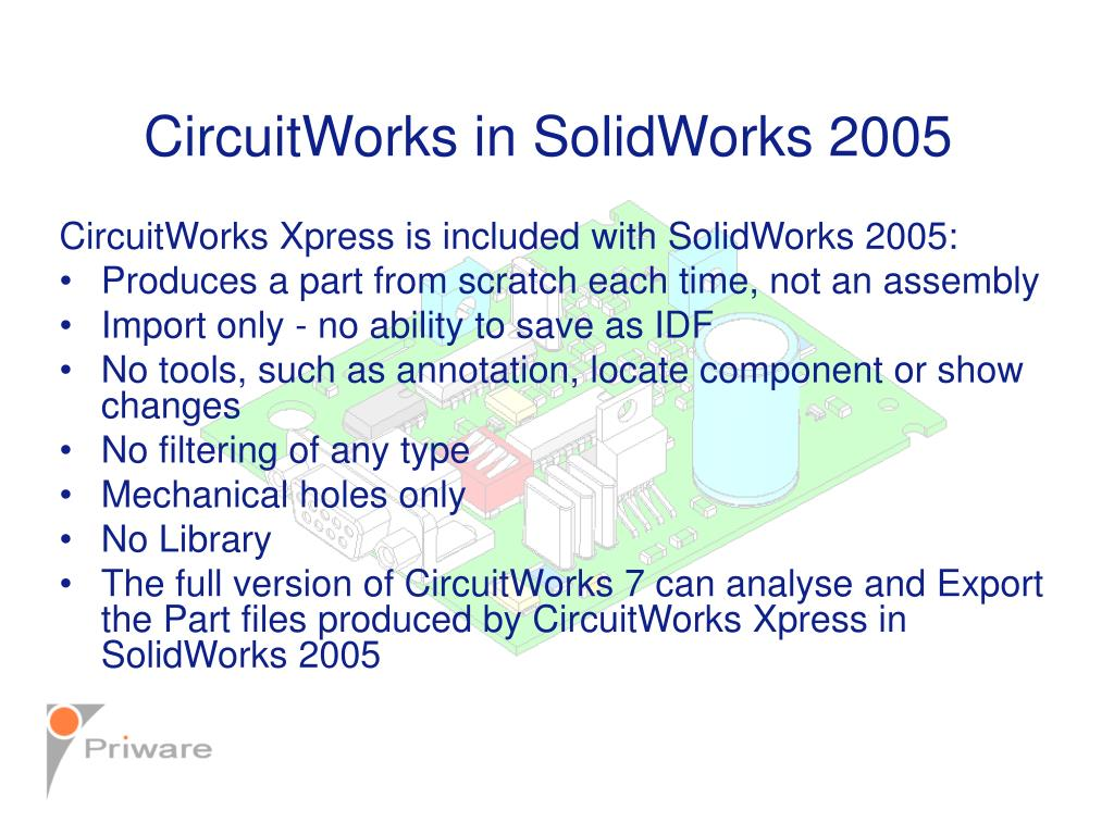 CircuitWorks in SolidWorks 2005