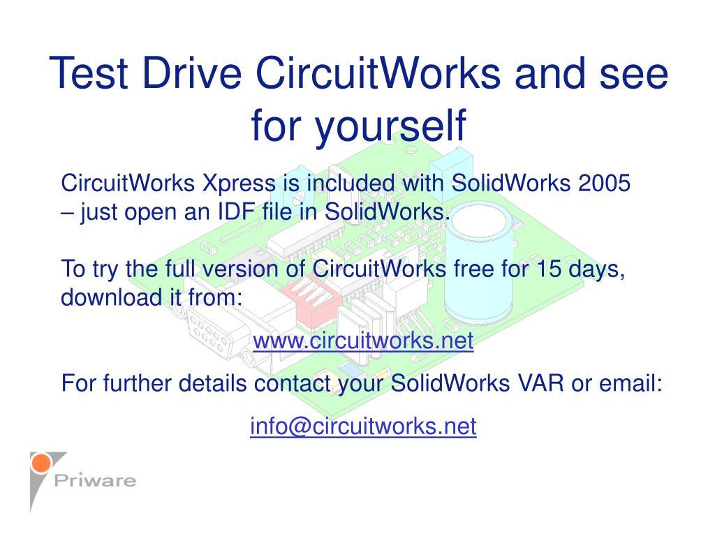 Test Drive CircuitWorks