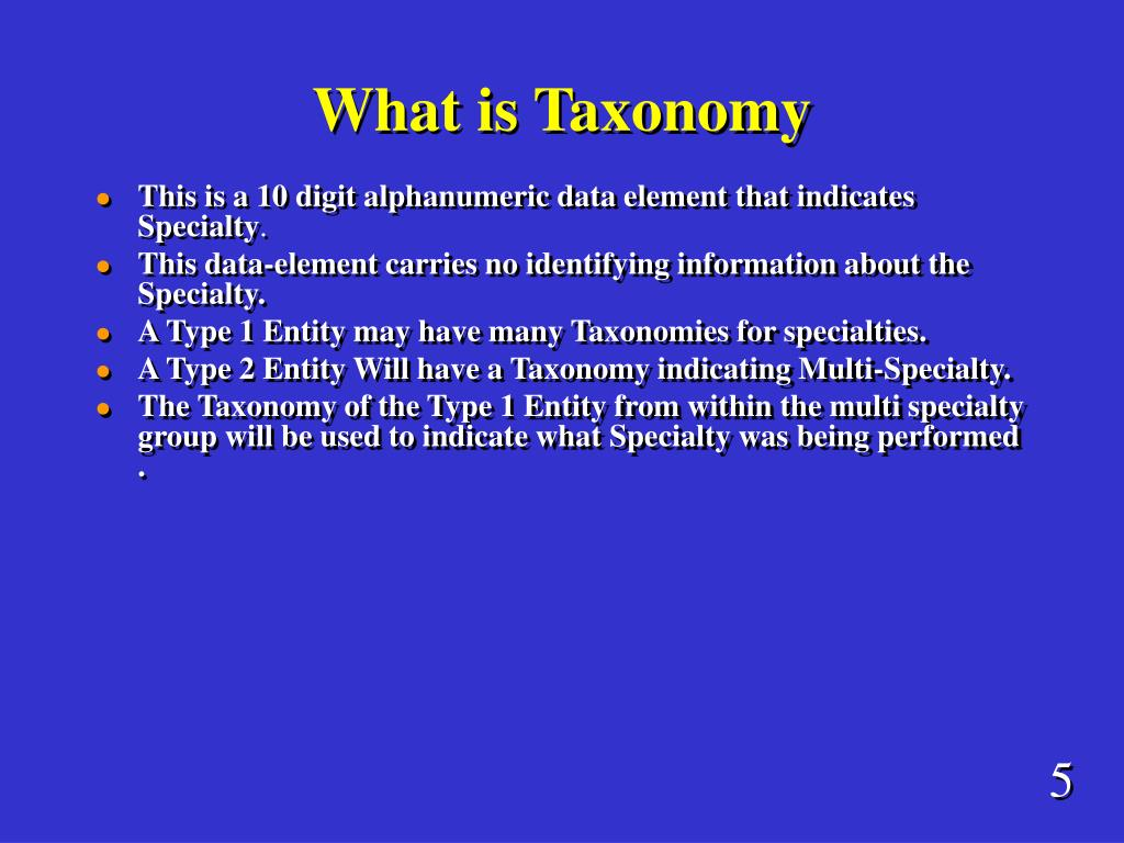 What is Taxonomy