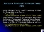 additional published guidances 2006 200712
