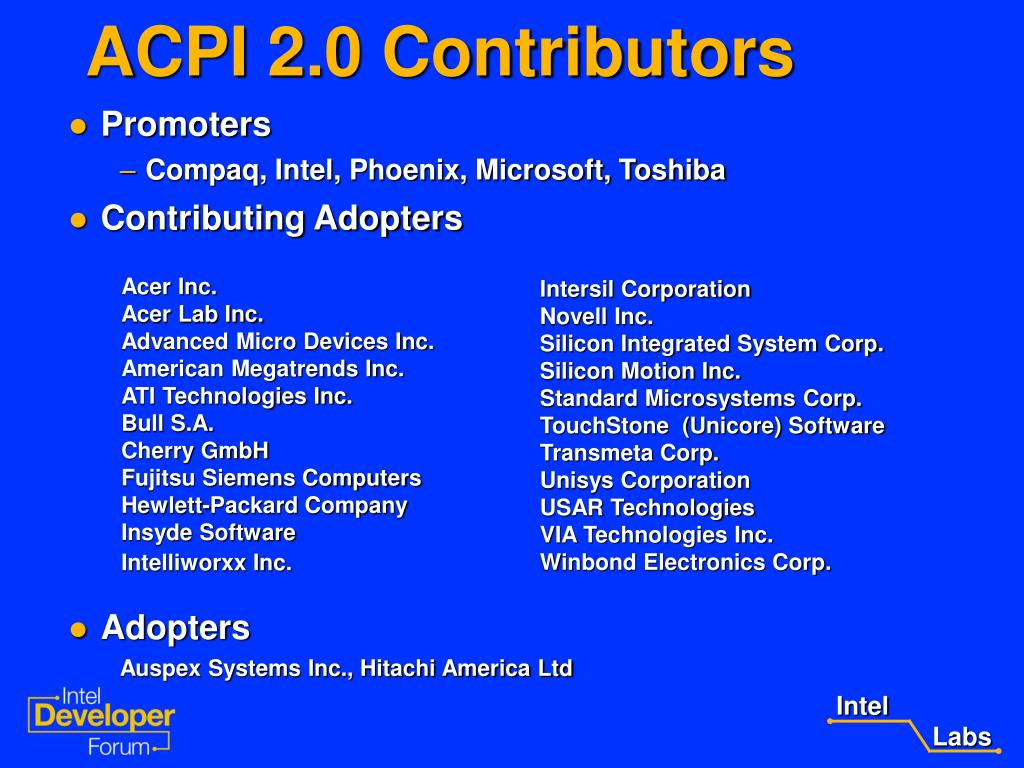 PPT - ACPI 2 0 Support for IA-64 Systems PowerPoint