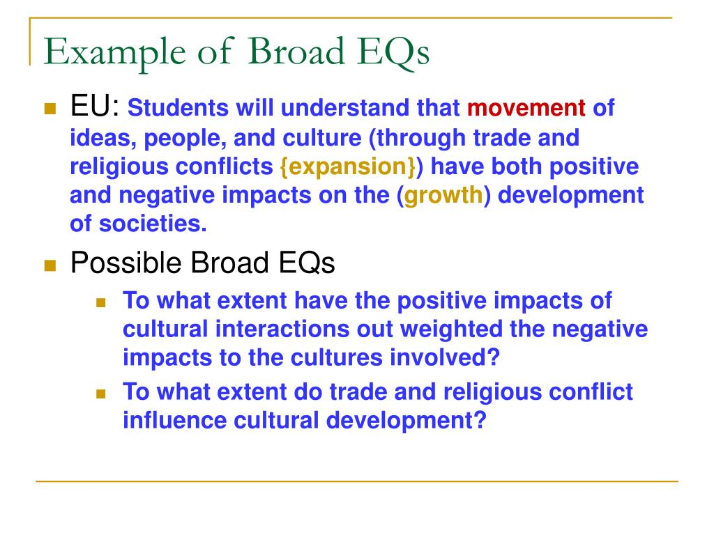 Example of Broad EQs