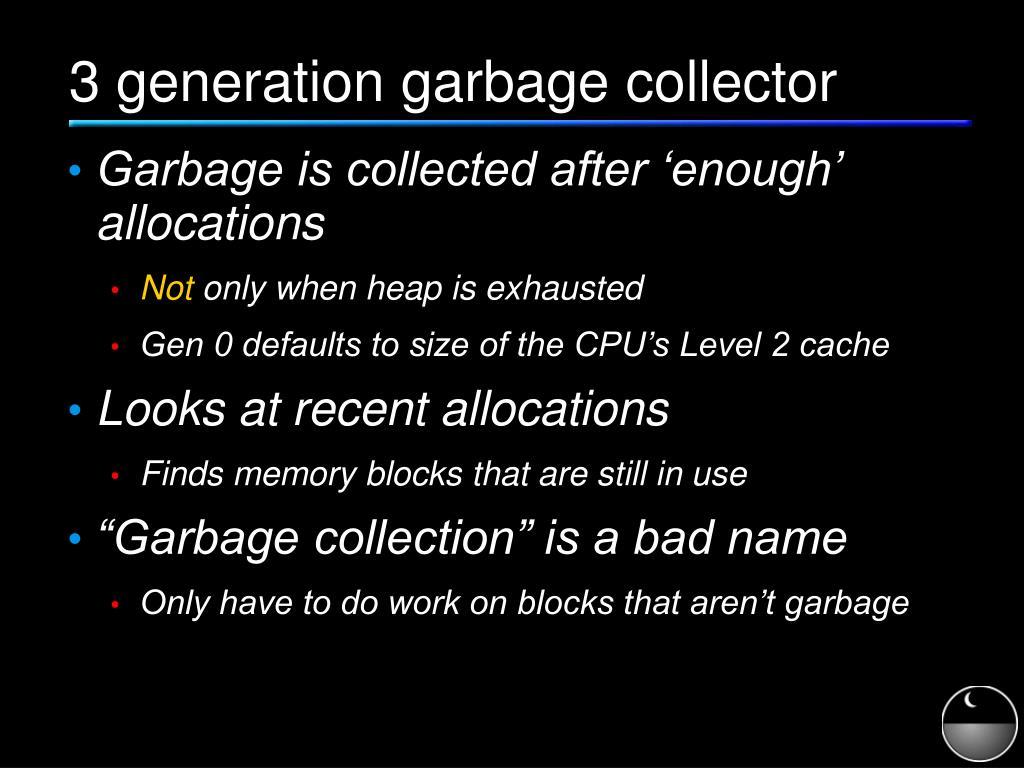 3 generation garbage collector