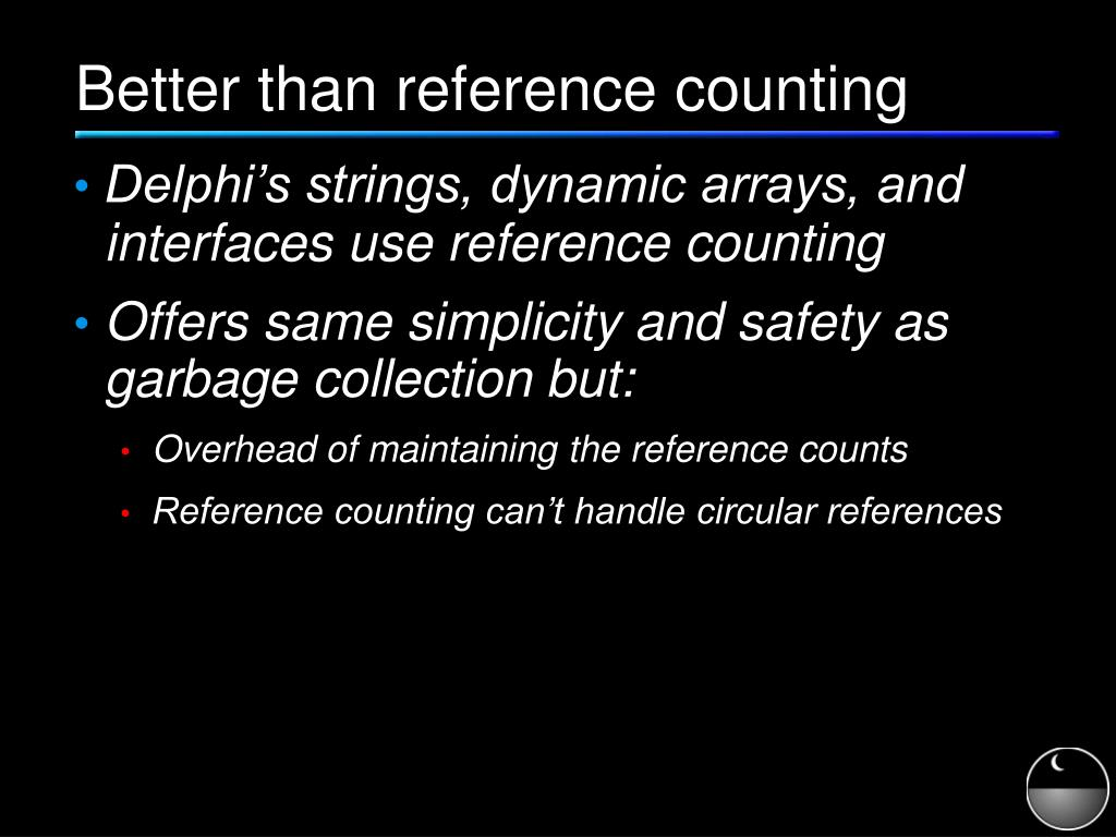 Better than reference counting