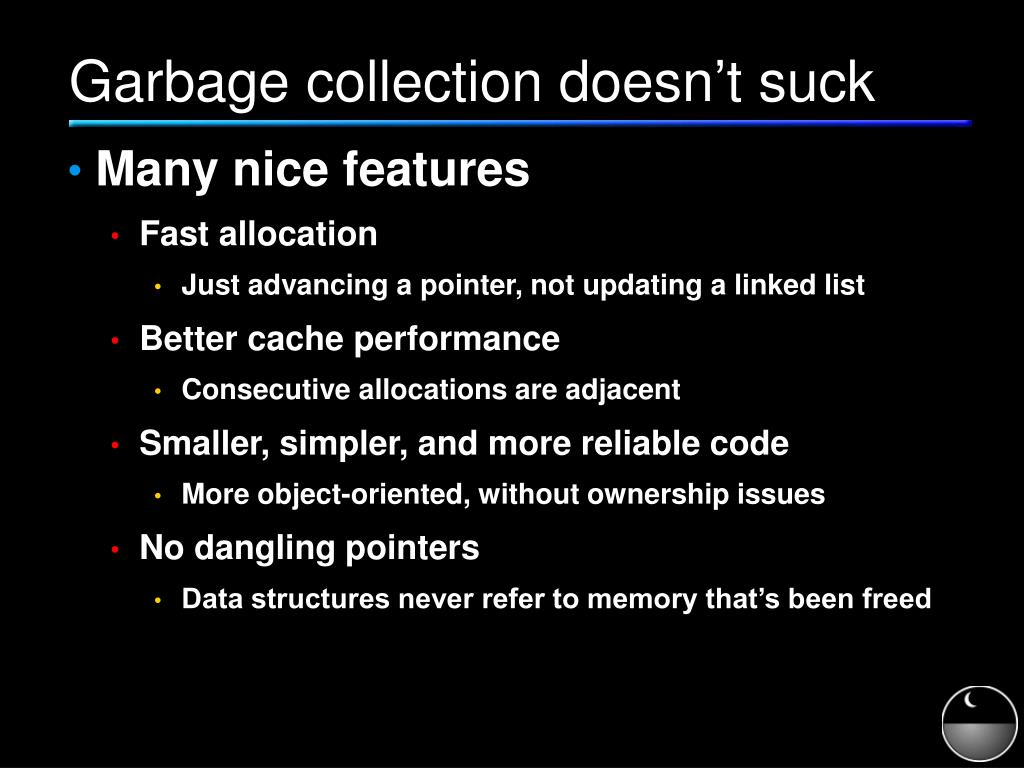 Garbage collection doesn