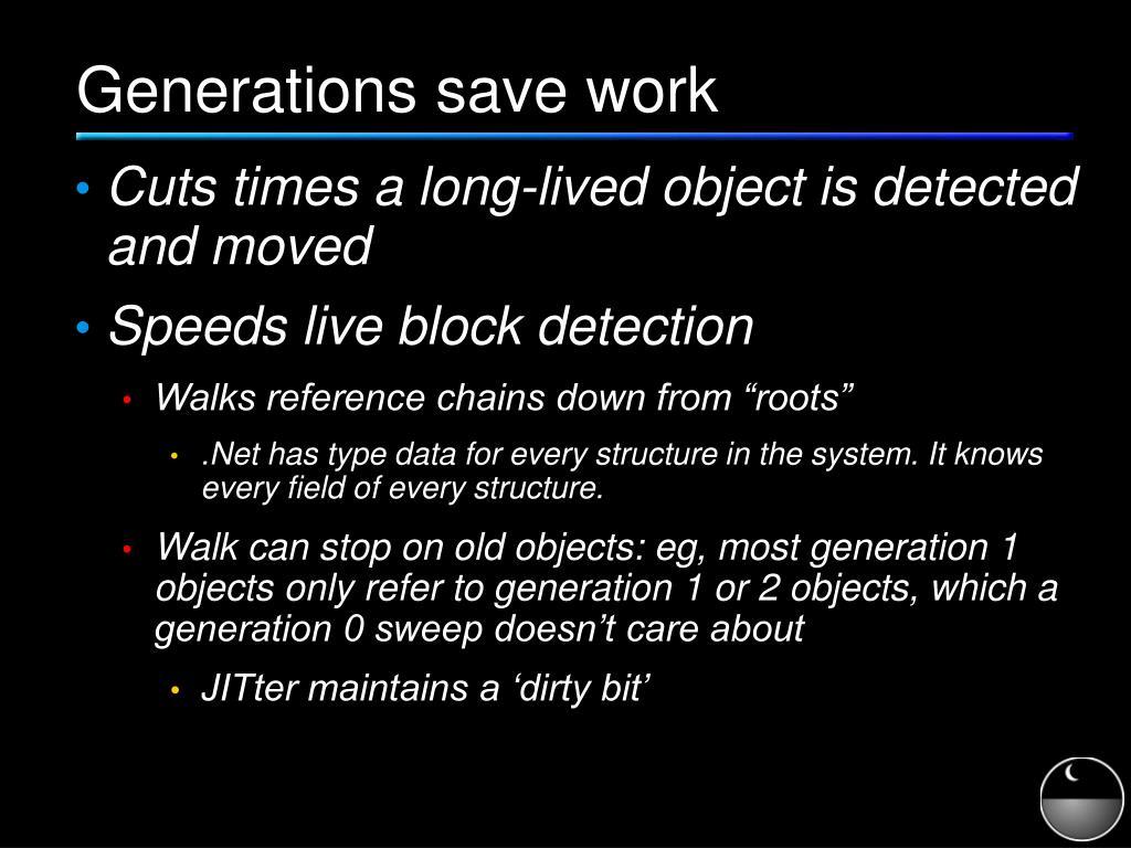 Generations save work