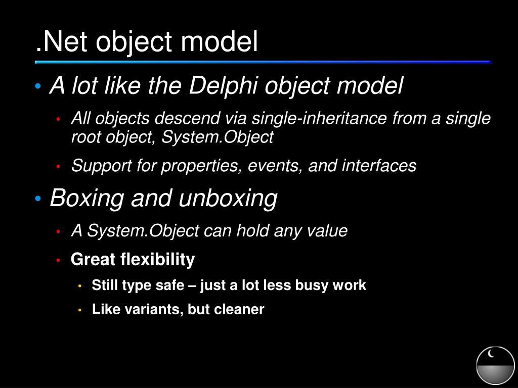 .Net object model