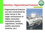 definition organizational features20