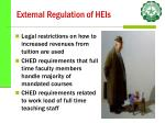 external regulation of heis