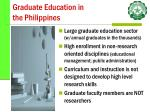 graduate education in the philippines