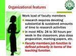 organizational features26