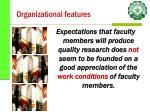 organizational features28