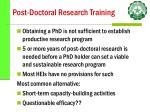 post doctoral research training