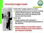 university budget model30