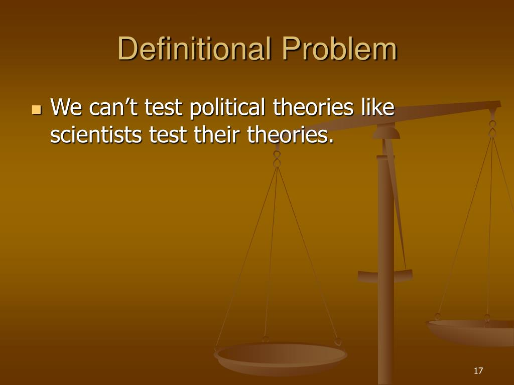 Definitional Problem