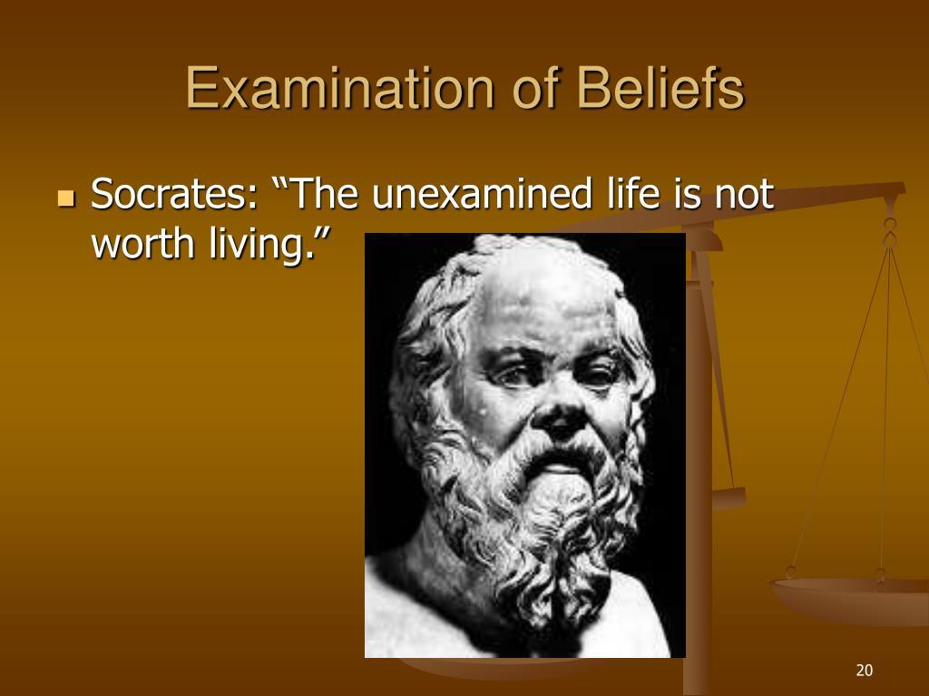 Examination of Beliefs