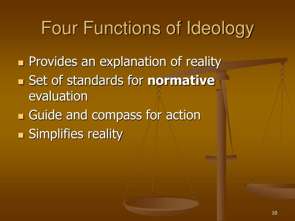 Four Functions of Ideology