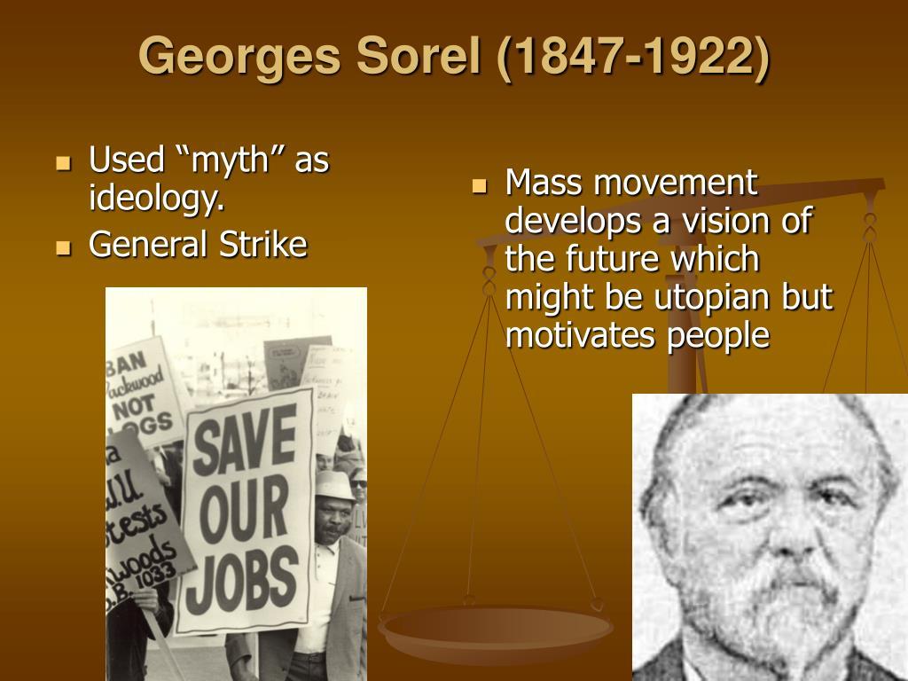 """Used """"myth"""" as ideology."""
